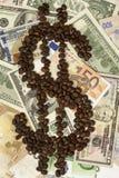 Offee y dinero del  de Ñ Imagen de archivo
