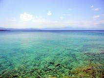 Offen-Meer, adriatische Küste Stockfotografie