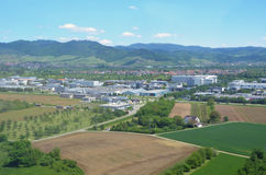 Offenburg Sued. Aerial view industrial area in Offenburg Sued, in the Ortenau region, Baden Germany Stock Image