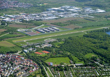 Offenburg Sued. Aerial view industrial area in Offenburg Sued, in the Ortenau region, Baden Germany Stock Images