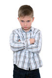 The offended boy Royalty Free Stock Photography