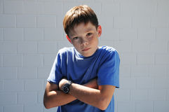 Offended boy. Portrait of an offended  teenager boy Stock Photography