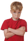 Offended boy Stock Photos