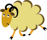 Offended cartoon sheep Royalty Free Stock Images