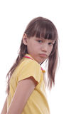 The offended child stock photography