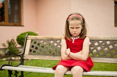 Offended child portrait Stock Photography