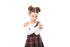 Offended chool girl Stock Photo