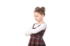 Offended chool girl Royalty Free Stock Images