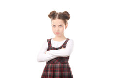 Offended chool girl Royalty Free Stock Photos