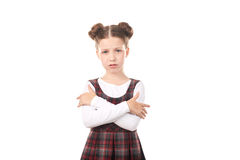 Offended chool girl Stock Images