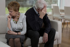 Offended elder couple Stock Image