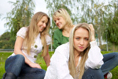 Offended girl Royalty Free Stock Image
