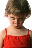 Offended girl. Offended little girl. Isolate on white background Royalty Free Stock Image