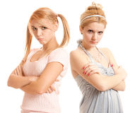 Offended girl-friends Stock Photography