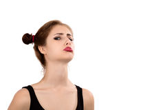 Offended girl Stock Image