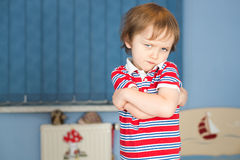 Offended little boy Royalty Free Stock Image