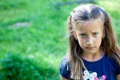 Offended little girl Royalty Free Stock Photo