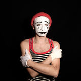 Offended mime with arms crossed Stock Photos