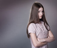 Offended teen girl royalty free stock photo
