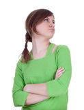Offended young woman Royalty Free Stock Photos