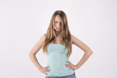 Offended young woman. Beautiful offended young blonde woman Stock Photo