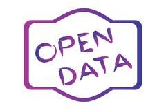 Offene Daten lizenzfreie abbildung