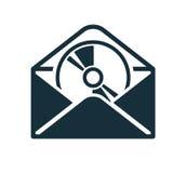 Offene Diskette des Mattschwarzen der Umschlagikone Stockbild