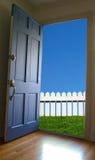 Offene Tür stockbild