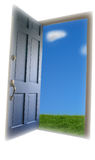 Offene Tür stockfotografie