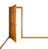 Offene Tür (Ausschnittspfad) lizenzfreie stockbilder