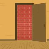 Offene Tür bricked Ausgang vektor abbildung