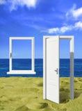 Offene Tür in Ozean lizenzfreies stockfoto