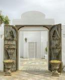 Offene Tür - Playa Blanca Lanzarote Stockbilder