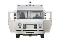 Offene Tür Vans car, Vorderansicht Lizenzfreies Stockbild