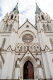 Offene Tür auf Savannah Church Stockfoto