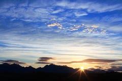 Offener Himmel Stockfoto