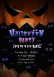 Offener Mund und Raum Laterne Jacks O für Halloween-Parteikunst Stockfoto