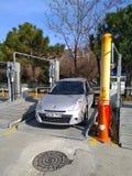 Offener Parkplatz von zwei Boden speziell für beschäftigte Istanbul-Straßen lizenzfreie stockfotografie