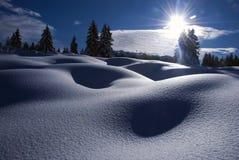 Offener Schnee Stockfotos