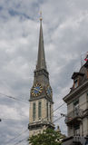 Offener St Jakob Church Zurich Switzerland Clock Tower Royalty Free Stock Photos