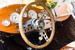 Offener Tourenwagen Fahrerhausauto Jaguars SS-100 Lizenzfreie Stockbilder