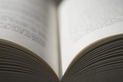 Offenes Buch mit Schwalbenschärfentiefe Lizenzfreies Stockfoto