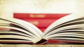 Offenes Buch - Weinlesefoto Lizenzfreies Stockbild