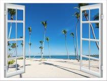 Seeansicht Durch Ein Offenes Fenster Lizenzfreie Stockfotografie - Bild: 29039687