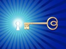 Schlüsselloch mit Schlüssel Lizenzfreies Stockbild