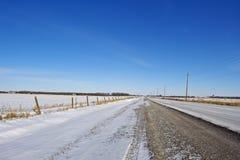 Offenes Land-Straße im Winter Lizenzfreie Stockfotos