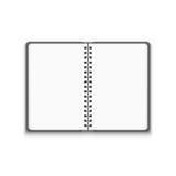 Offenes Notizbuch des Vektor-realistischen freien Raumes lizenzfreie abbildung