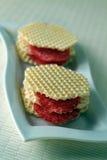 Offenes Sandwich mit Wurst Stockbilder
