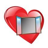 Offenes und leeres Herz Lizenzfreie Stockfotografie