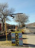 Offenes Zeichen Seligman, Arizona Route 66 s Lizenzfreies Stockbild